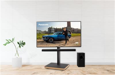 "Panasonic 55"" 4K LED-TV m.soundbar på stand"