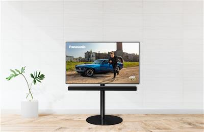 "Panasonic 49"" 4K LED-TV m.soundbar på stand"